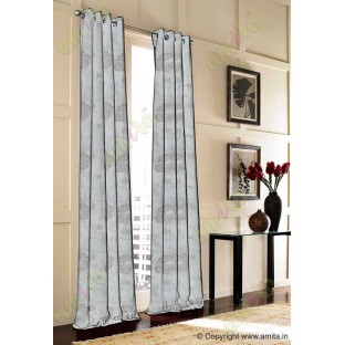 Beige grey colour beautiful natural big flower design poly main curtain designs