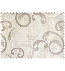 Brown grey beige cololur beautiful traditional design poly main curtain designs