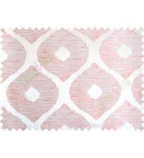 Orange silver brown colour contemporary circle fench design poly main curtain designs