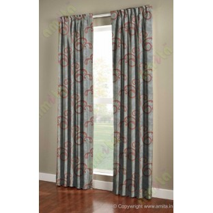 Orange silver brown cololur beautiful traditional design poly main curtain designs