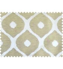 Green grey brown colour contemporary circle fench design poly main curtain designs