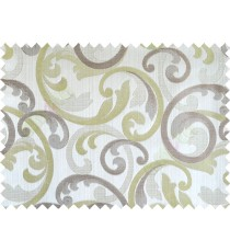 Green grey brown cololur beautiful traditional design poly main curtain designs