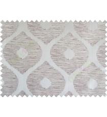 Purple brown beige colour contemporary circle fench design poly main curtain designs