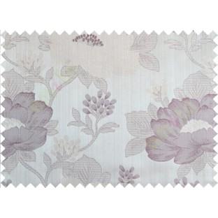Purple brown beige colour beautiful natural big flower design poly main curtain designs