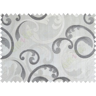 Grey black brown beige cololur beautiful traditional design poly main curtain designs