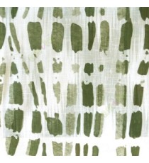 Green white grey color stone geometric shaped vertical rectangular shaped lines texture finished cotton sheer curtain