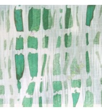 Green white black color stone geometric shaped vertical rectangular shaped lines texture finished cotton sheer curtain