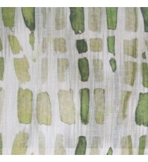 Green white brown color stone geometric shaped vertical rectangular shaped lines texture finished cotton sheer curtain