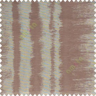 Brown color vertical stripes sound vibration effect lines horizontal color lines poly fabric sheer curtain