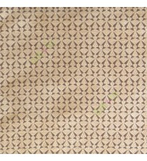 Brown beige color geometric small patterns traditional looks satellite butterfly digital embroidery main curtain