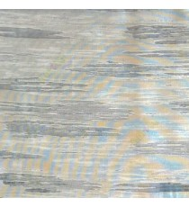Blue brown color abstract cloud wood layers island finished horizontal short bold stripes sheer curtain