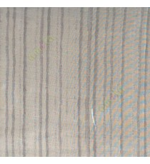 Grey color vertical bold digital stripes texture lines net finished sheer curtain