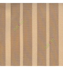 Brown beige color vertical pencil stripes net finished vertical and horizontal thread crossing checks poly sheer curtain