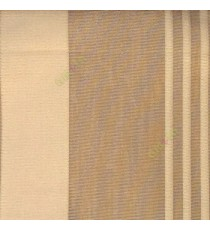 Brown beige color vertical pencil and bold stripes net finished vertical and horizontal checks line poly fabric sheer curtain