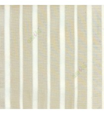 Cream color vertical pencil stripes net finished vertical and horizontal thread crossing checks poly sheer curtain