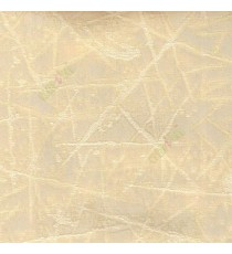 Beige color abstract design neurons random crossing lines texture and shiny combination poly fabric main curtain