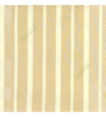 Gold beige color vertical pencil stripes net finished vertical and horizontal thread crossing checks poly sheer curtain