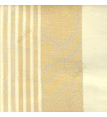 Gold cream color vertical pencil and bold stripes net finished vertical and horizontal checks line poly fabric sheer curtain