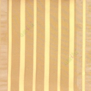 Gold color vertical pencil stripes net finished vertical and horizontal thread crossing checks poly sheer curtain