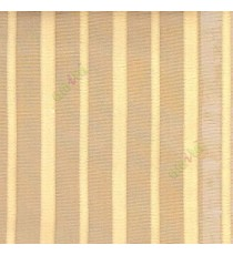 Brown color vertical pencil stripes net finished vertical and horizontal thread crossing checks poly sheer curtain