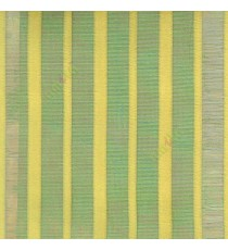 Green color vertical pencil stripes net finished vertical and horizontal thread crossing checks poly sheer curtain