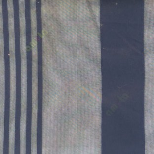 Ink blue color vertical pencil and bold stripes net finished vertical and horizontal checks line poly fabric sheer curtain