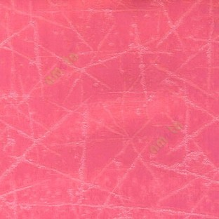 Pink color abstract design neurons random crossing lines texture and shiny combination poly fabric main curtain