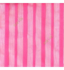Pink color vertical pencil stripes net finished vertical and horizontal thread crossing checks poly sheer curtain