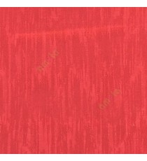 Bright red color vertical texture lines embroidery scratches shiny poly fabric main curtain