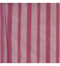 Purple color vertical pencil stripes net finished vertical and horizontal thread crossing checks poly sheer curtain