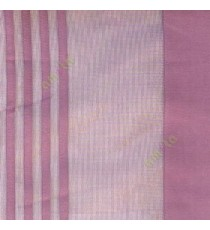 Purple color vertical pencil and bold stripes net finished vertical and horizontal checks line poly fabric sheer curtain