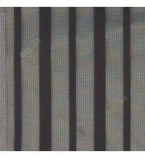 Black color vertical pencil stripes net finished vertical and horizontal thread crossing checks poly sheer curtain