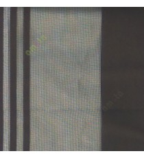 Black color vertical pencil and bold stripes net finished vertical and horizontal checks line poly fabric sheer curtain