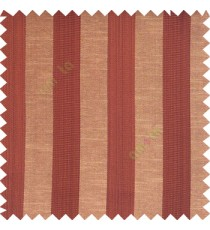 Dark chocolate brown black beige color bold vertical stripes with thin lines background polyester texture base fabric horizontal embossed lines main curtain