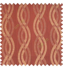 Dark chocolate brown black beige color vertical weaving ropes horizontal short texture lines polyester main curtain