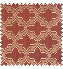Dark chocolate brown black beige color traditional Moroccan pattern texture borders on design polyester background main curtain