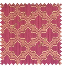 Purple black beige color traditional Moroccan pattern texture borders on design polyester background main curtain