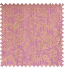 Light purple beige grey color beautiful flower leaves hanging floral designs flower buds elegant look vertical lines polyester background main curtain