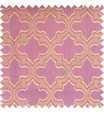 Light purple beige grey color traditional Moroccan pattern texture borders on design polyester background main curtain