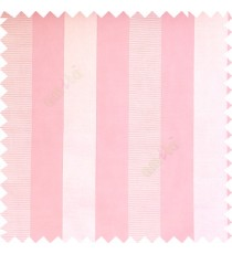 Baby pink white cream color bold vertical stripes with thin lines background polyester texture base fabric horizontal embossed lines main curtain