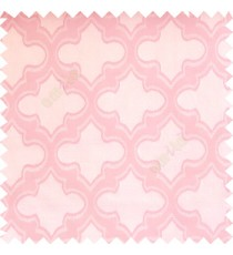 Baby pink white cream color traditional Moroccan pattern texture borders on design polyester background main curtain