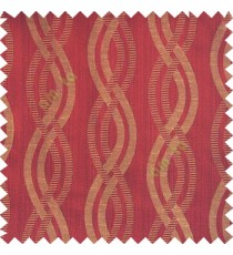 Maroon beige black color vertical weaving ropes horizontal short texture lines polyester main curtain