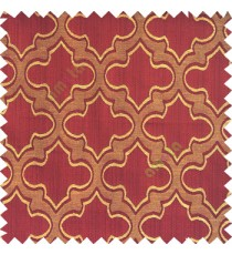 Maroon beige black color traditional moroccan pattern texture borders on design polyester background main curtain