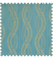 Blue beige grey color vertical weaving ropes horizontal short texture lines polyester main curtain