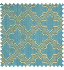 Blue beige grey color traditional moroccan pattern texture borders on design polyester background main curtain