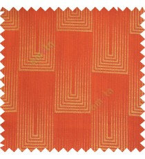 Red orange beige color contemporary designs vertical falling rectangular shapes with straight thin lines texture background main curtain