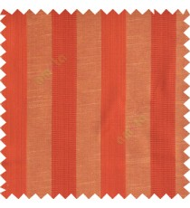 Red ornage beige color bold vertical stripes with thin lines background polyester texture base fabric horizontal embossed lines main curtain
