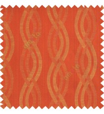Red orange beige color vertical weaving ropes horizontal short texture lines polyester main curtain