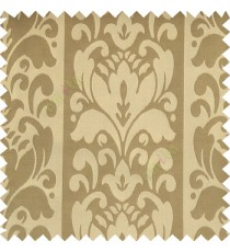 Light copper brown grey color traditional designs floral damask texture polyester texture wide vertical stripes background with thin lines main curtain