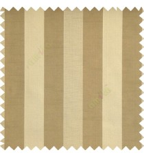 Light copper brown grey color bold vertical stripes with thin lines background polyester texture base fabric horizontal embossed lines main curtain
